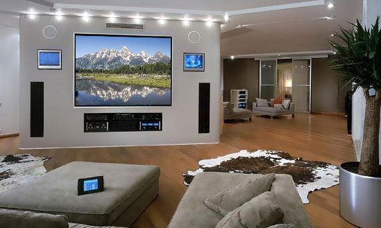 Click To Enlarge Image On Wall Screen Home Theater Installation Jpg